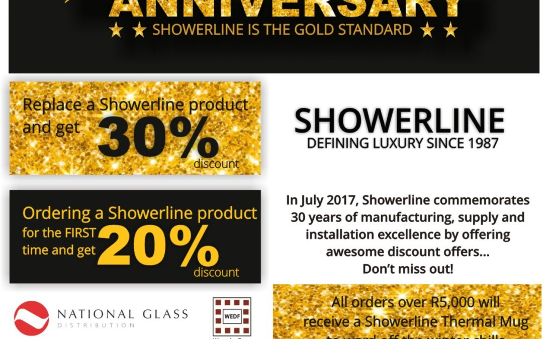 Showerline's 30th Anniversary Specials – Don't Miss Out