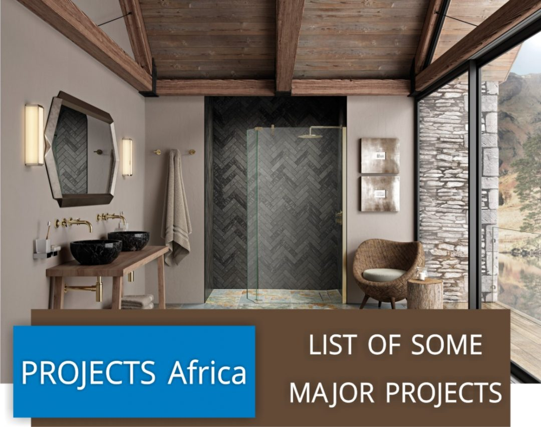Projects completed in Africa & Indian Ocean Islands